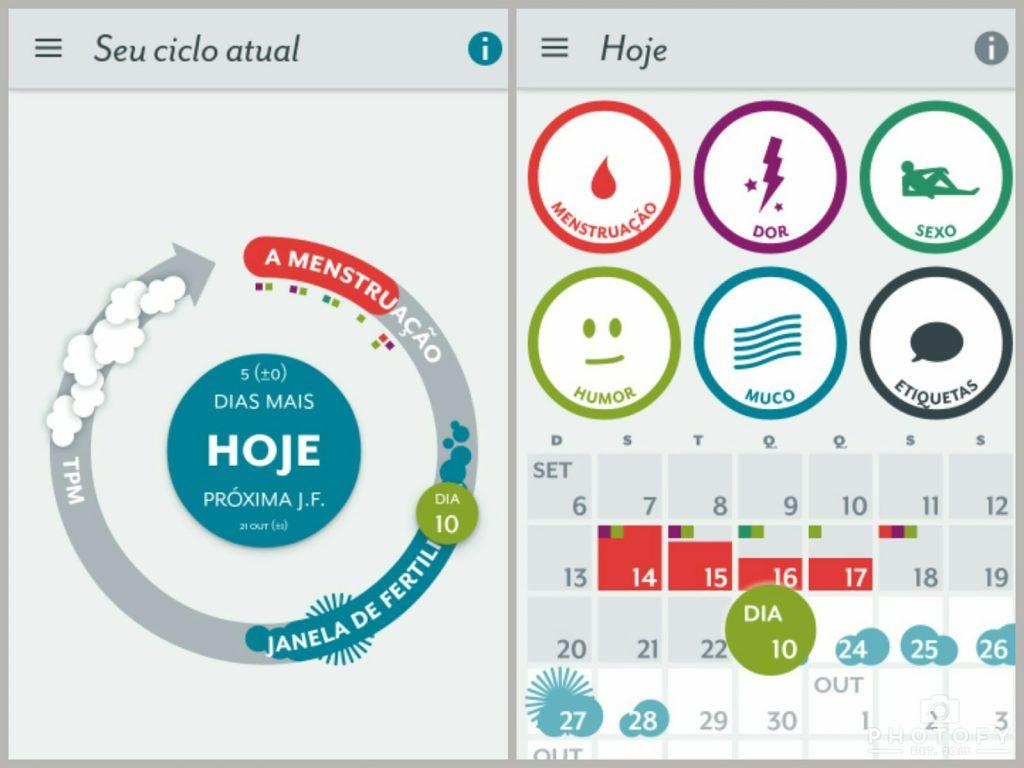 Aplicativo calendário menstrual